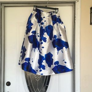 Chiwish Midi floral  Pleated Skirt Sz Small